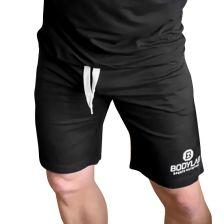 Shorts Schwarz mit weißem Logo -XL