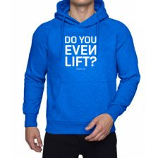 Hoodie blau/weiß 'Do you even lift'