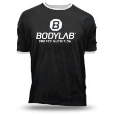 T-Shirt Boston Schwarz/ Weiß mit Logo