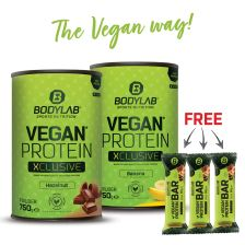 Double Vegan Protein XCLUSIVE Deal + 3 Protein Bar (vegan)