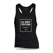 Tank Top schwarz 'Do not disturb'