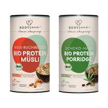 Bio Protein Porridge Schoko-Hanf (350g) & Bio Protein Müsli Nuss-Buchweizen (350g)