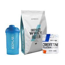 Impact Whey (1000g) + Bodylab24 Creatin Powder (500g) + Bodylab24 Shaker