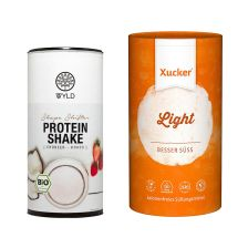Bio Protein Shape Shifter Erdbeer-Kokos (450g) + Xucker light europ. Erythrit (1000g)