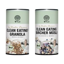 "Clean Eating Bircher Blaubeere & Mandel ""by Nadia Damaso"" (350g) + Clean Eating Granola Mohn & Quinoa ""by Nadia Damaso"" bio (350g)"