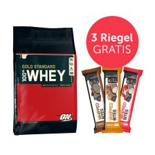 100% Whey Gold Standard (4545g) + 3 x Protein Whipped Bites (3x76g) Gratis!