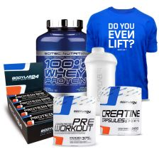 100% Whey Protein Professional (2350g) + BL24 Concentrated Pre Workout (375g) + BL24 Protein Bar (12x65g) + BL24 Creatine Kapseln (300 Kapseln) + BL24 Shaker + BL24 T-Shirt