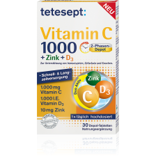 Vitamin C 1000 + Zink + D3 (30 Tabletten)
