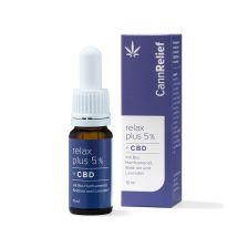 Relax Plus 5% - Bio-Hanfsamenöl mit CBD, Baldrian und Lavendel (10ml)