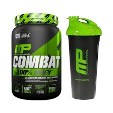 Combat 100% Whey (907g) + Blender Bottle gratis!