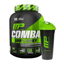 Combat 100% Whey (2268g) + Blender Bottle gratis!