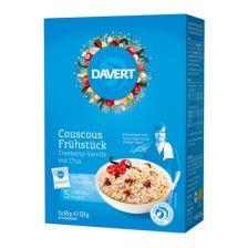 Couscous Frühstück bio - 5 x 65g - Cranberry-Vanille