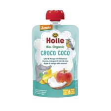 Demeter Croco Coco - Pouchy Apfel & Mango mit Kokosnuss, ab dem 8. Monat (100g)