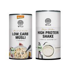 "Demeter Low Carb* Müsli Früchte ""Mood Activator"" (350g) + Bio Protein Shape Shifter (450g)"