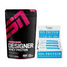 50% Protein Riegel (12x45g) + ESN Designer Whey (1000g)