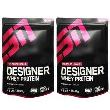2 x Designer Whey (2x2500g)