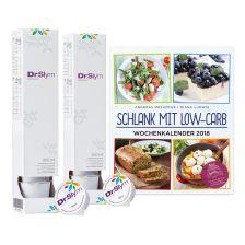 2 x DrSlym Konzentrat (2x10x30ml) + Schlank mit Low-Carb - Wochenkalender 2018