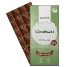 3 x Edel Vollmilchschokolade mit Xylit und Haselnüssen (3x80g)