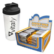 Energy Cake Riegel (24x125g) + Vitafy Shaker (600ml)