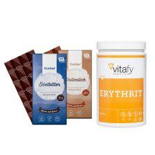 Erythrit (1000g) + 2x Xucker Schokolade (2x100g)