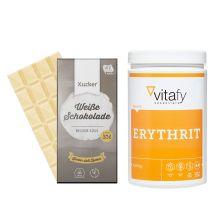 Erythrit (1000g) + Xucker weiße Schokolade (100g)