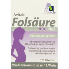 Folsäure 800 Plus (120 Tabletten)