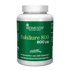 Folsäure 800 (240 Tabletten)