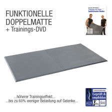 "Functional Training Doppelmatte Grau + Übungs-DVD ""Training mit dem Funktionalem Boden"""