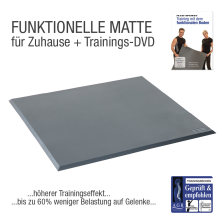 "Functional Training Bodenmatte Grau + Übungs-DVD ""Training mit dem Funktionalem Boden"""