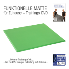 Functional Training Bodenmatte Grün inkl. DVD