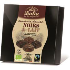Pralinen Zartbitterschokolade & Vollmilchschokolade bio (125g)