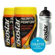 2 x Hydrate & Perform (2x400g) + GRATIS Isostar Trinkflasche (500ml)