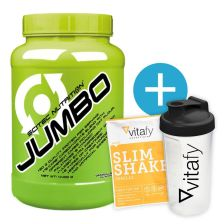 Scitec Nutrition Jumbo (4400g) + Vitafy Essentials Shaker (600ml) gratis