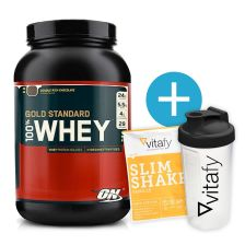 Optimum Nutrition 100% Whey Gold Standard (908g) + Bonus