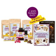 LOCA Low-Carb Probierpaket + Gratis Camp Magazin + Gratis Low-Carb Rezeptebuch