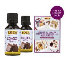 2 x LOCA Flavdrops Vollmilchschokolade (2x30ml) + Gratis Low-Carb Rezeptebuch