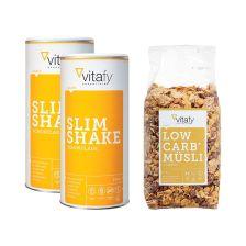 Low Carb Müsli im Beutel (525g) + 2 x Slim Shake (500g)