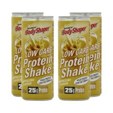 4 x BodyShaper Low Carb Protein Shake - 250ml - Cappuccino