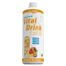 Low Carb Vital Drink - 5000ml - Pfirsich Maracuja MHD 30.10.2017