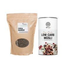Bio Low Carb* Müsli (350g) + Chia Samen (1000g)