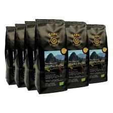 6 x Bio Café Machu Picchu ganze Bohne (6x250g)