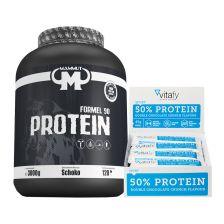 50% Protein Riegel (12x45g) + Mammut Formel 90 Protein (3000g)