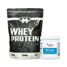 BCAA (90 Kapseln) + Mammut Whey Protein (1000g)