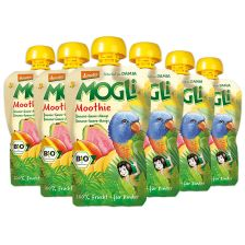 6x Mogli Trink Obst bio Banane-Guave-Mango (6x100g)