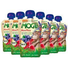 6x Mogli Moothie bio Apfel-Heidelbeere-Himbeere (6x100g)