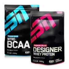 ESN Nitro BCAA Powder (500g) + Designer Whey (1000g)
