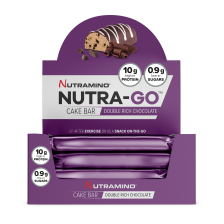 Nutra-Go Protein Cake Bar - 16x38g - Double Chocolate - MHD 31.12.2018