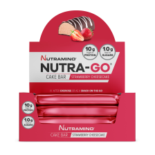 Nutra-Go Protein Cake Bar - 16x38g - Strawberry Cheesecake - MHD 28.02.2019