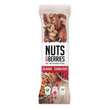Crunchy Nut Bar Bio Almond Cranberry( 15x30g)