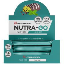 Nutra-Go Protein Cake Bar - 16x38g - Cool Mint - MHD 31.12.2018